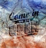 Retro signs Open and Closed. Vector illustration. stock illustration