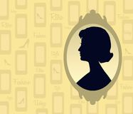 Retro silhouette. Of the lady royalty free illustration