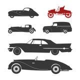 retro silhouette för bil stock illustrationer