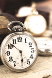 Retro silver clock Royalty Free Stock Images