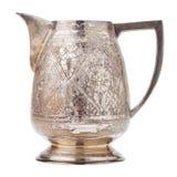Retro silver creamer, vintage milk jug Royalty Free Stock Image