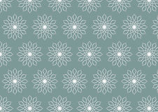 Retro Silver Flower Pattern on Pastel Color Background Stock Photography