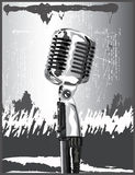 Retro Silver Microphone Royalty Free Stock Image