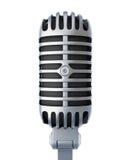 Retro silver microphone Stock Photo