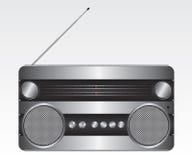 Retro silver radio illustration Stock Image