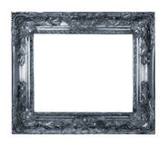 Silver Frame. Retro Silver Revival Old Gold Frame Stock Photography