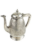 Retro silver teapot, jug isolated Royalty Free Stock Photography