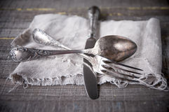 Retro silverware Royalty Free Stock Photo