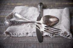 Retro silverware Royalty Free Stock Photo