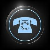 Retro simbolo del telefono Fotografia Stock