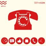 Retro simbolo del telefono Immagini Stock