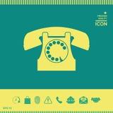 Retro simbolo del telefono Immagine Stock Libera da Diritti