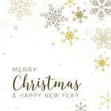 Retro simple Christmas card Stock Images