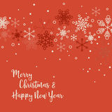 Retro simple Christmas card Royalty Free Stock Images