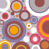 Retro simple circles abstract background Stock Images