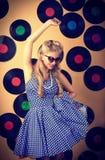Retro singer Stock Images