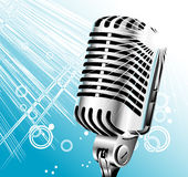 Retro singer microphone Royalty Free Stock Photography