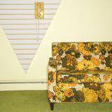 Retro sitting room. Royalty Free Stock Photos