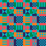 Retro Sixties Geometric Pattern. Geometric shapes with vintage color palette Royalty Free Stock Photos