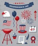 retro självständighet för bakgrundsdaggrunge stock illustrationer