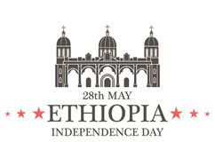 retro självständighet för bakgrundsdaggrunge ethiopia royaltyfri illustrationer