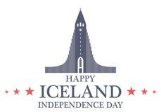 retro självständighet för bakgrundsdaggrunge iceland royaltyfri illustrationer