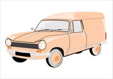 Retro skåpbil vektor illustrationer