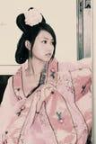 retro skönhetporslin Royaltyfri Fotografi
