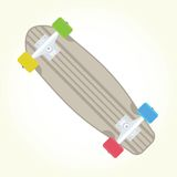 Retro skateboard isolated vector Royalty Free Stock Images