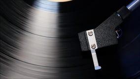 Retro skivtallrik HD för skivspelare Bästa skottnärbild av en snurrvinyl lager videofilmer