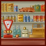 retro sklep Obrazy Royalty Free
