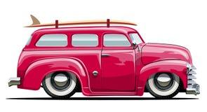 Retro skåpbil för tecknad film Royaltyfri Fotografi