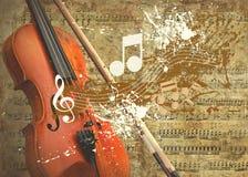 retro skrzypce ilustracji