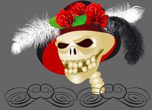 Retro skull Royalty Free Stock Image