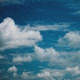 Retro sky and clouds background Stock Image