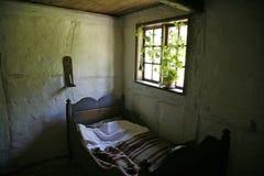 Retro slaapkamer Royalty-vrije Stock Foto's