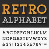Retro Slab Serif Alphabet Vector Font Royalty Free Stock Images