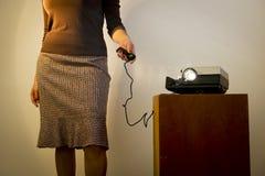Free Retro Slide Projector Woman Royalty Free Stock Photo - 31140335