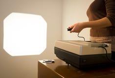 Free Retro Slide Projector Woman Stock Photos - 31140403