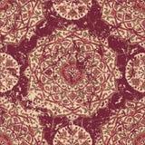 Retro sliten matta med prydnader Royaltyfri Bild