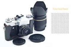 Retro SLR camera Stock Images