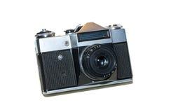 Free Retro Slr Film Photo Camera, Front Angled View On White Background. Analog Vintage Film Camera Royalty Free Stock Photo - 179736075