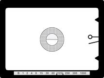 Retro SLR viewfinder,. With free space for your pics, vector Royalty Free Stock Image