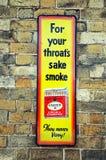 Retro smoking advertisement. Royalty Free Stock Photo