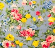 Retro snöra åt blom- sömlös modelltygbakgrund Royaltyfri Foto