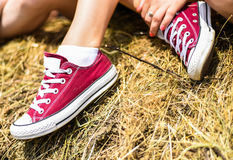 Retro sneakers Stock Photography