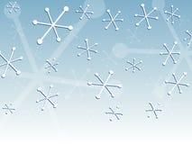 Retro sneeuw stock illustratie