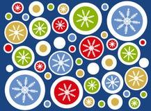 Retro Sneeuwvlok omcirkelt Achtergrond Stock Afbeelding