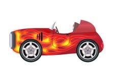 Retro snelle elektrische auto vector illustratie