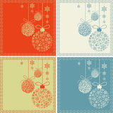 Retro Snow Baubles Stock Images